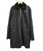 GIORGIO BRATO(ジョルジオ ブラッド)の古着「シアリング ムートンコート」 ブラック