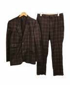 PAUL SMITH(ポールスミス)の古着「セットアップ スーツ 柄」|ブラウン