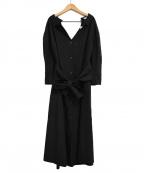 TELA(テラ)の古着「19SS ウエストリボン デザイン シャツワンピース」|ブラック