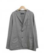 LARDINI()の古着「ヘリンボーン 2Bテーラードジャケット」|グレー