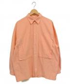 E.TAUTZ(イートーツ)の古着「LINEMAN SHIRT OX シャツ」|オレンジ