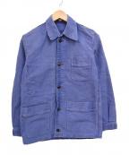 VINTAGE(ヴィンテージ)の古着「ヴィンテージフレンチモールスキンジャケット」|インクブルー