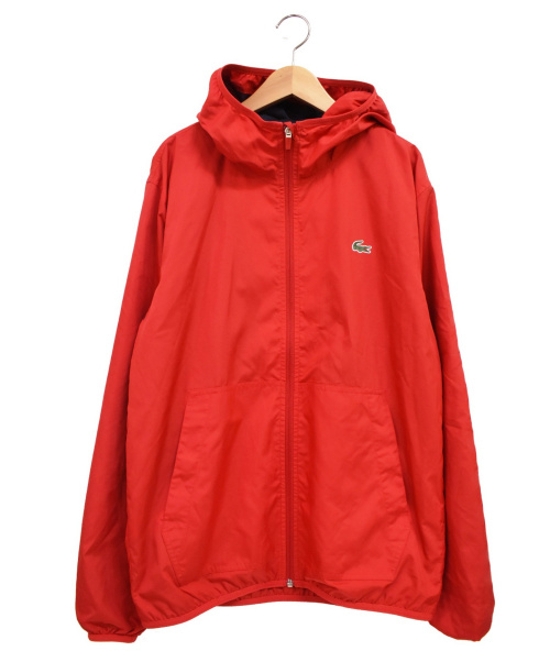 LACOSTE(ラコステ)LACOSTE (ラコステ) フーデッドジャケット レッド サイズ:48の古着・服飾アイテム