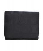 ()の古着「ニュートラベルライン3つ折り財布」|ブラック