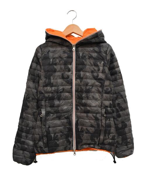 DUVETICA(デュベティカ)DUVETICA (デュベティカ) CARIADUE ERRE リバーシブルダウンジャケット グレー×オレンジ サイズ:Lの古着・服飾アイテム