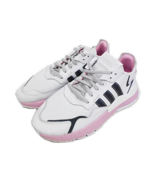 adidas(アディダス)adidas (アディダス) ナイト ジョガー スニーカー ピンク×ホワイト サイズ:27.0cmの古着・服飾アイテム