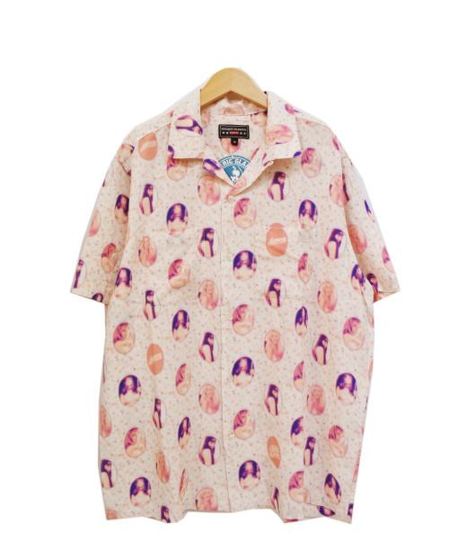 Supreme×HYSTERICGLAMOUR(シュプリーム×ヒステリックグラマー)Supreme×HYSTERICGLAMOUR (シュプリーム×ヒステリックグラマー) ブラードガールレーヨンシャツ ピンク サイズ:M 21SS Blurred Girls Rayon S/S Shirtsの古着・服飾アイテム
