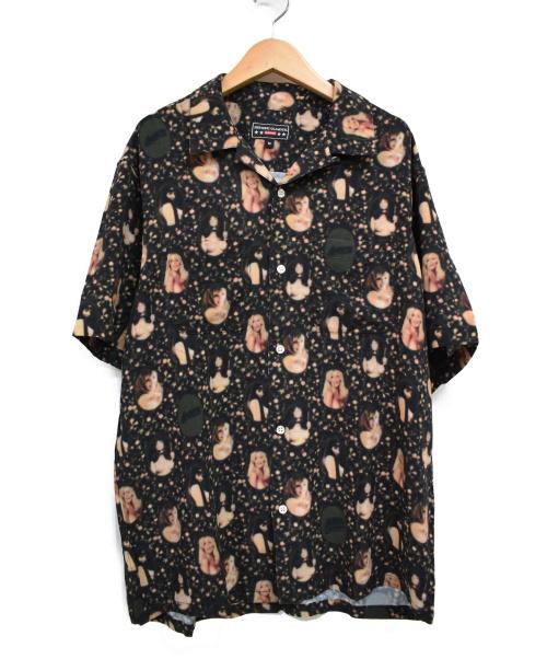 Supreme×HYSTERICGLAMOUR(シュプリーム×ヒステリックグラマー)Supreme×HYSTERICGLAMOUR (シュプリーム×ヒステリックグラマー) ブラードガールレーヨンシャツ ブラック サイズ:M 21SS Blurred Girls Rayon S/S Shirtsの古着・服飾アイテム