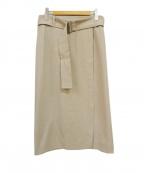 martinique(マルティニーク)の古着「ドライオックスベルテッドスカート」 ベージュ