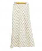 IENA(イエナ)の古着「サテンフレアロングスカート」|アイボリー
