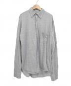 BROWN by 2-tacs(ブラウンバイツータックス)の古着「長袖ウールシャツ」 グレー