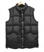 MOUNTAIN RESEARCH(マウンテンリサーチ)の古着「Puff Vest パフベスト」 ブラック