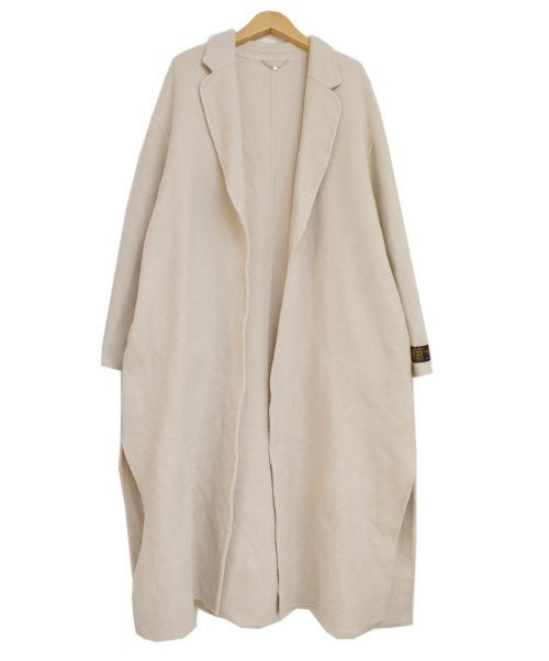FRAY ID(フレイアイディー)FRAY ID (フレイアイディー) MANTECOウールリバーコート ベージュ 未使用品の古着・服飾アイテム