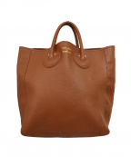 YOUNG & OLSEN The DRYGOODS STO(ヤングアンドオルセン ザ ドライグッズストア)の古着「EMBOSSED LEATHER TOTE」 ブラウン