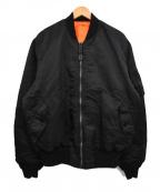 ALPHA INDUSTRIES(アルファインダストリーズ)の古着「リバーシブルMA-1ジャケット」|ブラック×オレンジ