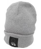 Y-3(ワイスリー)の古着「LOGO BEANIE ビーニー ニット帽 ロゴ」|グレー