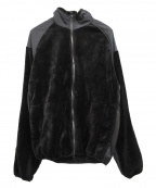 Vaporize(ヴェイパライズ)の古着「切替フリースブルゾン」 ブラック