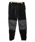 Vaporize(ヴェイパライズ)の古着「フリース切替パンツ」 ブラック