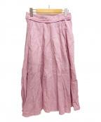 MADISON BLUE(マディソンブルー)の古着「リネンサーキュラースカート」 ピンク