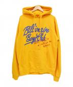 BILLIONAIRE BOYS CLUB(ビリオネアボーイズクラブ)の古着「ロゴプリントパーカー」 オレンジ