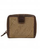 ()の古着「ラウンドファスナー2つ折り財布」|ベージュ×ブラウン