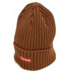 SUPREME(シュプリーム)の古着「スモールBOXロゴニット帽」|ブラウン