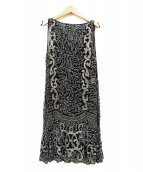 RALPH LAUREN(ラルフローレン)の古着「装飾ノースリーブシルクワンピース」|ブラック