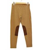 POLO RALPH LAUREN(ポロ・ラルフローレン)の古着「パッチ切替パンツ」|ブラウン