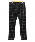 PEARLY GATES(パーリーゲイツ)の古着「ツイルチェックパンツ」|ブラック