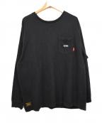 WTAPS()の古着「クロスボーンロングスリーブカットソー」|ブラック