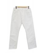 ()の古着「比古比女/セルビッチホワイトデニムパンツ」|ホワイト