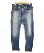 Denham()の古着「リペア加工デニムパンツ」|インディゴ