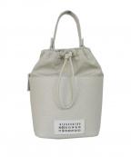 Maison Margiela 11(メゾンマルジェラ 11)の古着「21SS 5ACテクスチャードレザー バケットバッグ」|グレー
