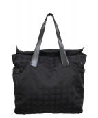 ()の古着「ニュートラベルライントートバッグ」|ブラック