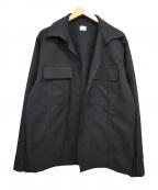kaiko(カイコー)の古着「20SS ボタンレスシャツジャケット」|ブラック