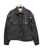JOHN LAWRENCE SULLIVAN(ジョンローレンスサリバン)の古着「ショルダーボタンデニムジャケット」|インディゴ