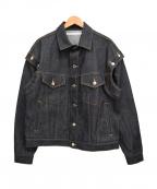 JOHN LAWRENCE SULLIVAN()の古着「ショルダーボタンデニムジャケット」|インディゴ
