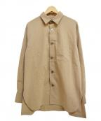 08sircus(ゼロエイトサーカス)の古着「21SS 長袖ワイドシャツ」 ベージュ
