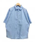 CASEY CASEY(ケーシーケーシー)の古着「21SS WAGA SHIRT COT80 ワイド シャツ」 ブルー