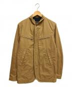 COMME des GARCONS HOMME()の古着「4ポケットマオカラージャケット」|ベージュ