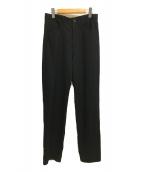 YohjiYamamoto pour homme(ヨウジヤマモトプールオム)の古着「ギャバジンウールパンツ」 ブラック