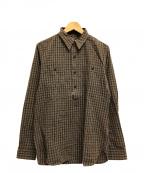 RRL(ダブルアールエル)の古着「長袖チェックワークプルオーバーシャツ」|グレー