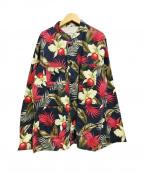 Engineered Garments(エンジニアドガーメンツ)の古着「Dayton Shirt ジャケット フラワー」|ネイビー×レッド
