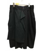 ()の古着「17SS 右前垂らし布シワギャバパンツ」|ブラック