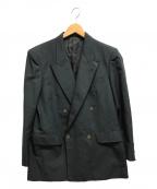 Christian Dior MONSIEUR(クリスチャンディオールムッシュ)の古着「[古着]ヴィンテージダブルジャケット ロゴ 」|ネイビー
