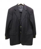 ERMENEGILDO ZEGNA(エルメネジルド・ゼニア)の古着「[古着]テーラードジャケット ロゴ」|ネイビー