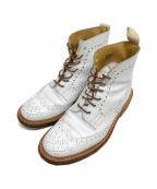 Trickers(トリッカーズ)の古着「カントリーブーツ ウイングチップ」|ホワイト