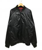 APPLEBUM(アップルバム)の古着「サテンブルゾン ジャケット ロゴ」|ブラック