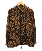 SCHOTT BROS.(ショットブロス)の古着「レオパードコーチジャケット 柄」|ブラウン