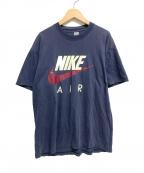NIKE()の古着「[古着]ヴィンテージスウォッシュロゴTシャツ」|ネイビー
